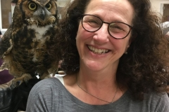 Great Horned Owl and Elena